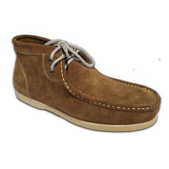 DUKE รองเท้าหนังแท้ leather men shoes รุ่น 980Double K (Whiskey)