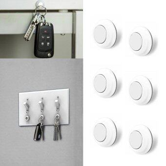 Harga leegoal Magnetic Key Holder Racks And Organizer For Wall Light Switch, Key Hook Hanger Hold Up To 3 Pounds, Easily Installed By 3M Adhesive(Pack Of 6) - intl