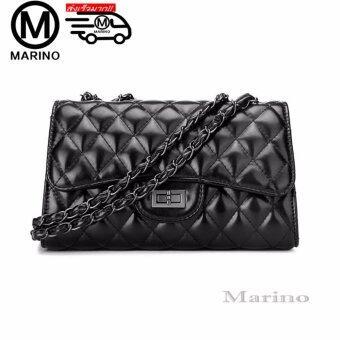 Marino กระเป๋า กระเป๋าสะพายข้าง กระเป๋าสะพายผู้หญิง No.0217 - Black