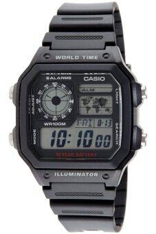 Casio นาฬิกาข้อมือผู้ชาย สายเรซิ่น รุ่น AE-1200WH-1AVDF - Black