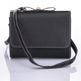 Premium Bag กระเป๋าแฟชั่น กระเป๋าสะพายข้าง รุ่น PB-001 (สีดำ)