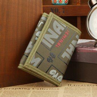 กระเป๋าสตางค์ของผู้ชายกอดกระเป๋าผ้าใบแฟชั่นที่เก็บเงินกระเป๋าสตางค์กระเป๋าถือบัตรคลัตช์-สีเขียว