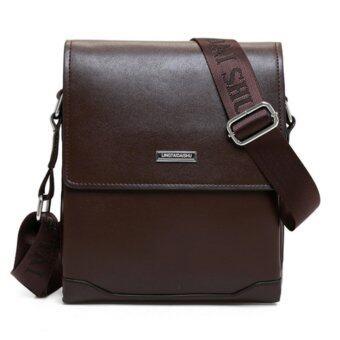 Aspire DAISHU กระเป๋าหนังสะพายข้าง Business Messenger Bag (สีน้ำตาล)