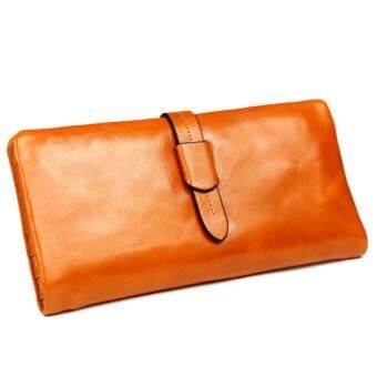 Passion Shop กระเป๋าสตางค์หนังแท้ สีน้ำตาล รุ่น Mira
