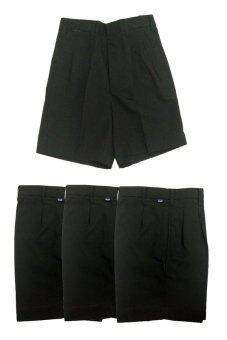 FITTER กางเกงเด็กนักเรียนชาย ขนาดตามรอบเอว ( สีดำ ) จำนวน 4 ตัว