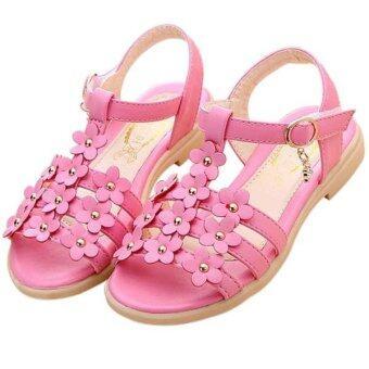 คนใหม่ของสาวร้อนรองเท้ารองเท้าแตะรองเท้าตอกหมุดเพชรสาวดอกไม้ (สีแดง)