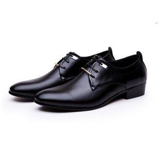 หนังหัวคนไปถักขึ้นเป็นทางการแต่งงานรองเท้าสีดำ