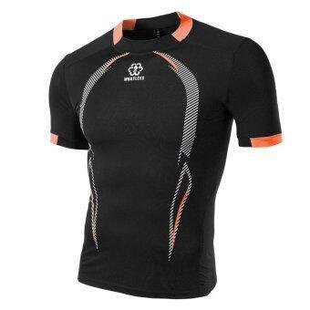 ซัมเมอร์นิวชายเสื้อยืดเช็ดกีฬากลางแจ้งอย่างการพิมพ์ลายเย็บเสื้อสีดำ