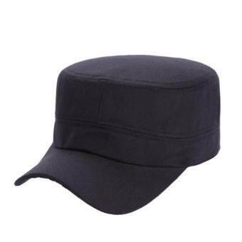 Hat Korean Flat Cap หมวกคลุมผมเกาหลี สีดำ หมวกแฟชั่นสีพื้น มีปีกด้านหน้า 1 ชิ้น