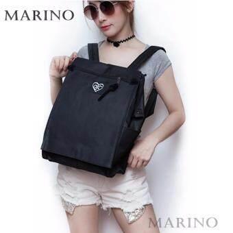 Marino กระเป๋า กระเป๋าเป้ กระเป๋าสะพายหลังสีดำ ไว้อาลัย Woman Backpack No.0210 - Black Heart