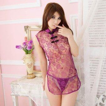 Harga Brand MeiNiang sexy lingerie uniform seduction suit cheongsam women's Classic Lace Sexy Lace pajamas 1011 - intl