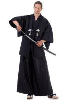 Princess of asia ชุดฮากามะพร้อมเสื้อคลุมฮาโอริ - สีดำ