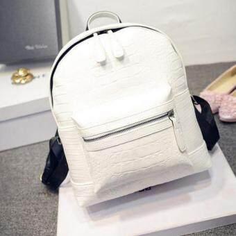 Premium Bag กระเป๋าเป้สะพายหลัง กระเป๋าเป้เกาหลี รุ่น PB014(สีขาว)