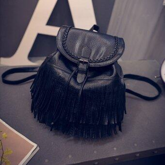 Little Bag กระเป๋าสะพายหลัง กระเป๋าเป้ กระเป๋าแฟชั่นผุ้หญิง รุ่น LP-028 (สีดำ)