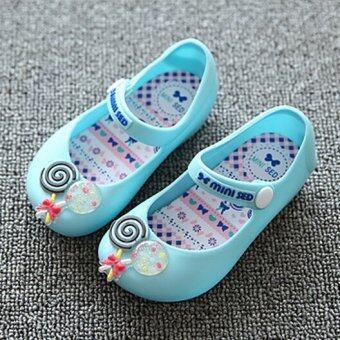 I81 แฟชั่นรัดเท้าลูกสาวร้อนใส่รองเท้ารองเท้าแตะสีลูกกวาดเยลลี่ลูกสาว
