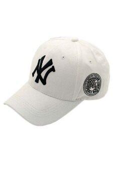 Fancyqube ฮิปฮอปสไตล์คนรักเพศ Snapback หมวกเบสบอลผ้าปรับได้ขาว