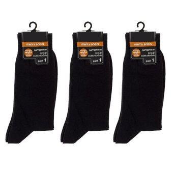 F&F ถุงเท้าธุรกิจชาย สีดำ - แพ็ค 3 คู่
