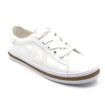 Air Move รองเท้าผ้าใบแฟชั่นผู้หญิง รุ่น B-6021 (White)