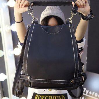Little Bag กระเป๋าเป้สะพายหลัง กระเป๋าเป้เกาหลี กระเป๋าสะพายหลังผู้หญิง backpack women รุ่น LP-067 (สีดำ)