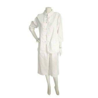 Pearl ชุดขาว/ชุดปฏิบัติธรรม กางเกงผ้าฝ้าย (สีขาว)