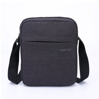 Tigernu Men Messenger Bag Waterproof Shoulder Bag Business Travel Casual Bag(Black Grey)