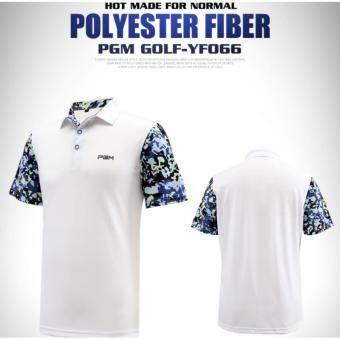 EXCEED เสื้อกอล์ฟสุภาพบุรุษรุ่นใหม่ล่าสุด YF066 สีขาวแถบน้ำเงิน MEN Golf Shirt Dry Fit Breathable Softextile Golf Polo Shirt Jacket Summer Fashion Short Sleeve Tshirt Fitness Casual Sports ( WHITE-BLUE )