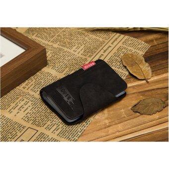 กระเป๋านามบัตร บัตรเครดิต Credit Card หนังแท้ 20 ช่อง สีดำ
