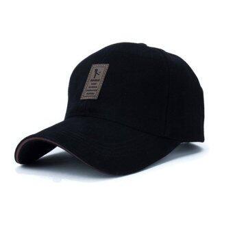 แฟชั่นหมวกเบสบอลกีฬากอล์ฟเพศ Snapback หมวกแข็งสำหรับคนกระดูก (สีดำ)