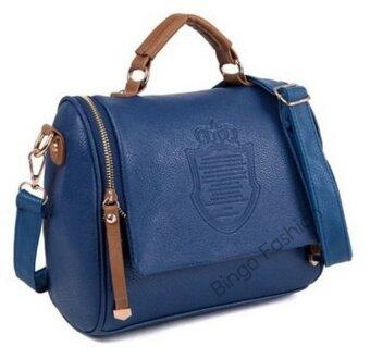Harga TB FASHION Bingo Fashion กระเป๋าสะพายพาดลำตัว Crown Premium PU Leather Crown Crossbody Bag- (Blue)