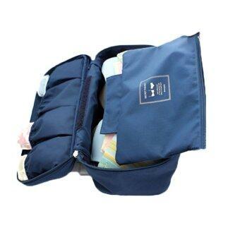 Daisiกระเป๋าใส่ชุดชั้นใน กระเป๋าจัดระเบียบ กระเป๋าหิ้วใบเล็กใส่กางเกงใน เสื้อในบิกีนี่(สีน้ำเงิน)