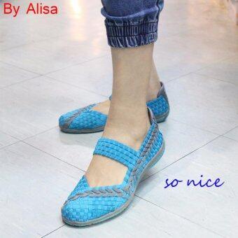 ALISA Shoes รองเท้าสปอร์ต F7018-Blue Grey