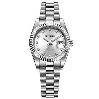 Rhythm (รึทึ่ม) นาฬิกาข้อมือผู้หญิง สแตนเลส รุ่น R1204S01 (Silver)