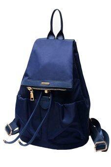 FTshop กระเป๋าเป้สะพายหลัง กระเป๋าแฟชั่น กระเป๋าเดินทาง กระเป๋าเป้ผู้หญิง กระเป๋าเป้เท่ๆ รุ่น38c(สีน้ำเงิน)