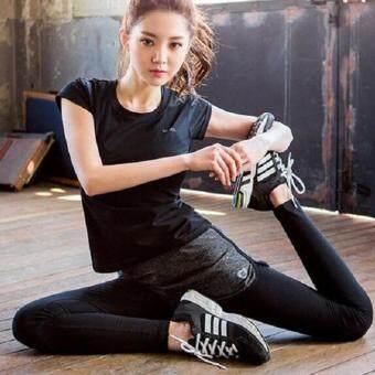 Dolly เซ็ทชุดออกกำลังกาย เสื้อแขนสั้น(1001)+กางเกงขายาว(1002)+บรา(1005)