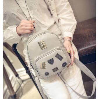 Premium Bag กระเป๋าเป้สะพายหลัง กระเป๋าเป้เกาหลี รุ่น PB022(สีเทา)