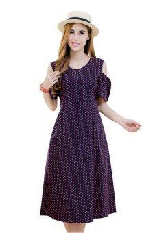Mami Dress เดรสให้นมลายโพลก้าดอท สุดน่ารัก คลาสสิค ฮิตตลอดกาล 47-DOR