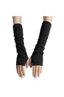 ถุงมือไม่มีนิ้วสีดำ