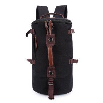 Keystone กระเป๋าเป้ Canvas แนว Retro Casual & Sport สีดำ
