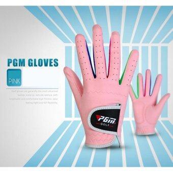 EXCEED GLOVES For kids PGM ( PINK colour ) ถุงมือมหัศจรรย์ สำหรับเด็กผู้หญิง PGM 1คู่ (ST010) สีชมพู SIZE14-17