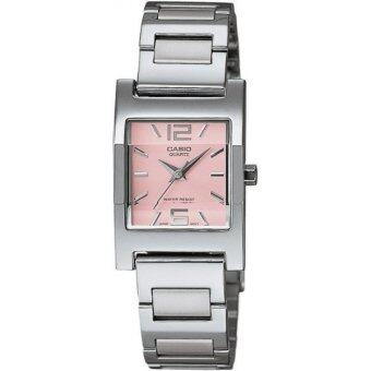 Casio นาฬิกาข้อมือ รุ่น LTP-1283D-4A (Silver/Pink)