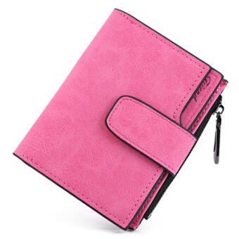 MATTEO กระเป๋าเงิน กระเป๋าสตางค์ ผู้หญิง 3 ชั้น Friend (สีชมพูเข้ม)