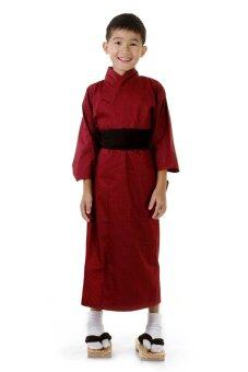 Princess of Asia ชุดกิโมโนญี่ปุ่นเด็กชาย (สีเลือดหมู)