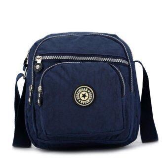 Koreaกระเป๋าสะพายข้าง ผ้ากันน้ำ รุ่นG007-1-Hสีน้ำเงิน