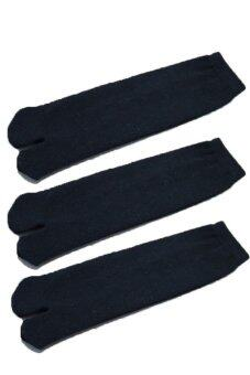ถุงเท้าสองนิ้ว กิโมโน สไตร์ญี่ปุ่น (เเพ็ค 3 คู่) (สีดำ)