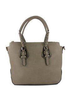 PhoeBe Bags กระเป๋าถือ กระเป๋าแฟชั่น สายสะพายถอดแยกได้ รุ่น PhoeBe Handbags 048 (สีเทา)