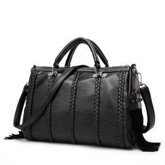 ST MartShop กระเป๋าถือสะพายข้างหนังใหม่ รุ่น stw2 (สีดำ)