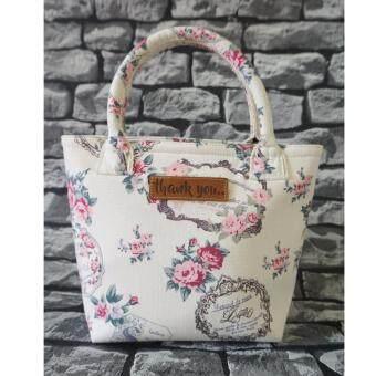 กระเป๋าผ้าแคนวาส Thank you bags รุ่น mini shopping canvas