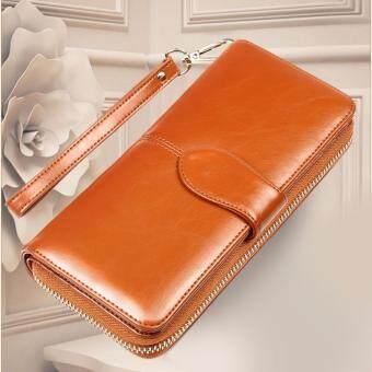 Wichu Bag กระเป๋าเงินผู้หญิง กระเป๋าสตางค์ ใบยาว กระเป๋าสตางค์ตามวันเกิด รุ่น LW-062 (สีน้ำตาล)