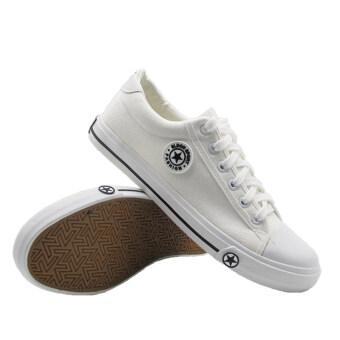 Alisa Shoes รองเท้าผ้าใบผู้ชาย รุ่น 9109 White