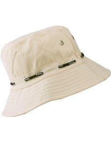เพศผู้ใหญ่เก็บหมวกผ้าหมวกป้องกันแสงแดดสีเบจ